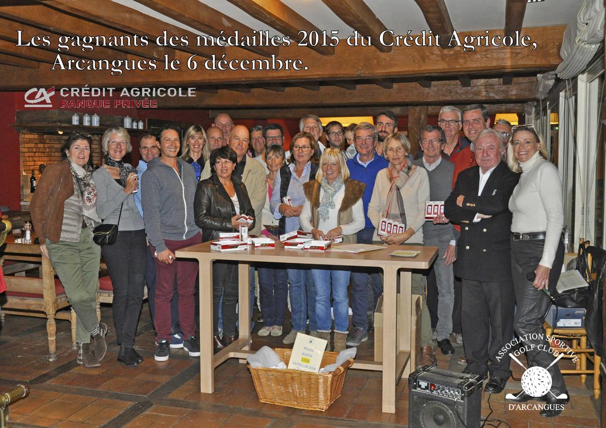 Les gagnants 2015 des médailles Credit Agricole logos web